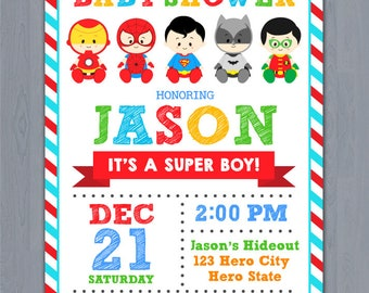 Superhero Baby Shower Invitation,  Super Hero Baby Shower invitation, Super baby shower invitation, superhero invitation baby shower