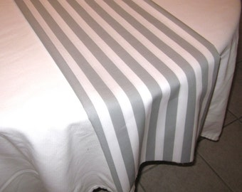 Gray Stripe Table Runner, Wedding, Bridal Shower, Baby Shower, Graduation, Birthday
