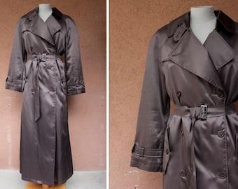 1990's Sonia Rykiel Brown Winter Trench Coat - 90's Sonia Rykiel Long trench Coat - Size S