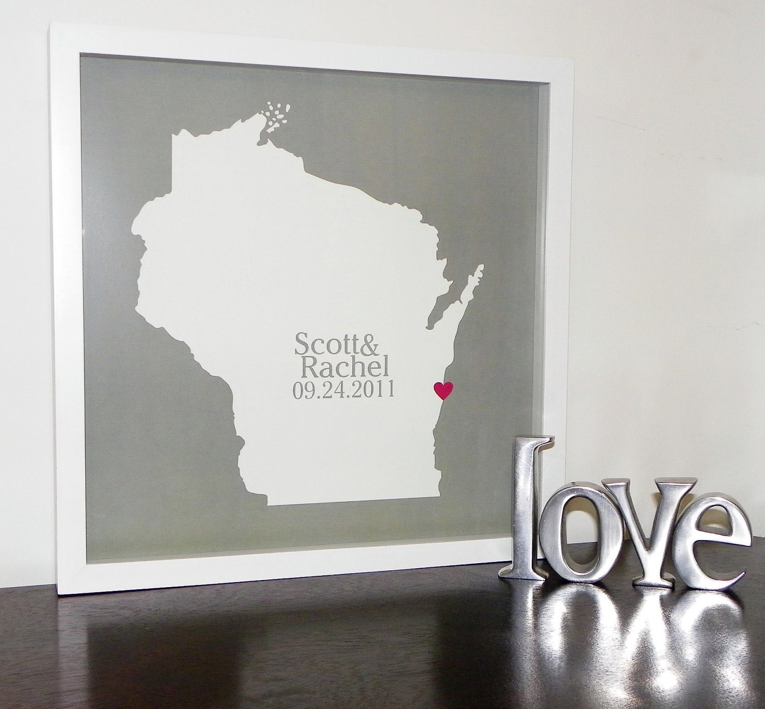 Personalized Wedding Gifts: Personalized Wedding Gifts State Map FRAMED ART Wedding Map