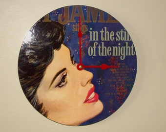 Album Cover Wall Clock - SILENT Clock 10 Inches - In the Still of the Night Clock - Unique Wall Decor - Vinyl Record Clock - 1827
