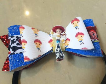 Jessie Toy Story Inspired Hair Bow Large