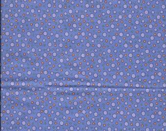 "New Purple Dot Toss 100% Cotton Fabric 19"" x 17"" Piece"