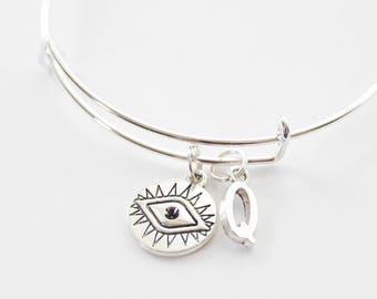 Evil Eye Bangle, Evil Eye Bracelet, Halloween Bangle, Halloween Bracelet, Halloween Jewelry, Evil Eye Jewelry, Custom Bangle