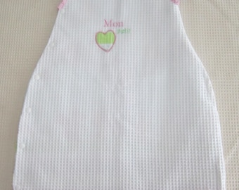 Sleeping bag size 0-6 months-embroidered cotton tote.