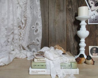 Decorative Book Bundle / Shabby Chic Cottage / French Farmhouse / UpstairsAtAliceAnns