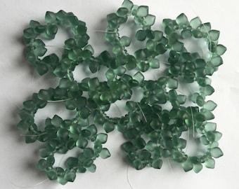 Czech Glass Seafoam Green Broilettes