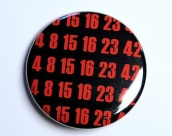 The Numbers - Pinback Button Badge 1 1/2 inch 1.5 - Flatback Magnet or Keychain