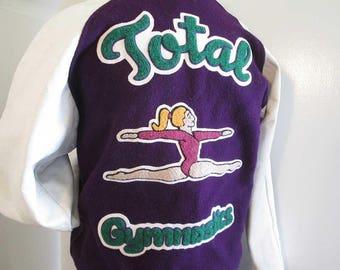 Total Gymnastics Varsity Jacket Vintage 80s letter jacket TG When Gymnastic is Life Letterman jacket Brianne wool jacket S M