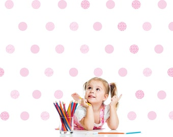 Pois Wall decals Girls Wall stickers Baby Nursery Room Decor Kit Pois