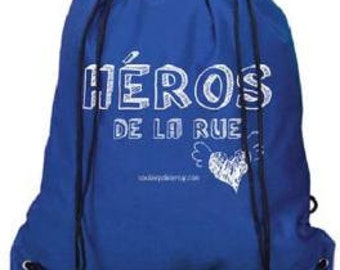 Backpack with HEROES of the street (support to the police) rope (blue or green)