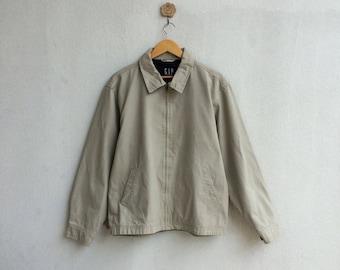 Vintage 90's Gap Plain Zipper Collar Jacket zzKSbv