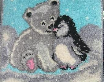 Handmade mat bear and penguin