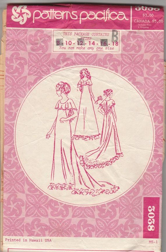 Patrones Pacifica 3038 Holoku hawaiana de la boda vestido de novia o ...