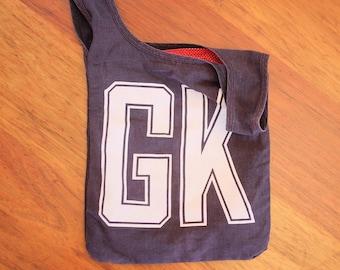 Black netball bib bag reversible - unique gift netball player, gift for mum, gift for sister - zero waste, green gift – custom available