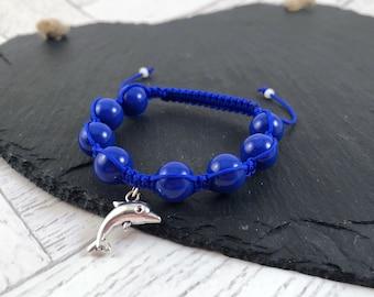 Kids Dolphin Charm Bracelet, Kids Dolphin Bracelet, Kids Charm Bracelet, Dolphin Charm Bracelet, Dolphin Bracelet, Dolphin Gift