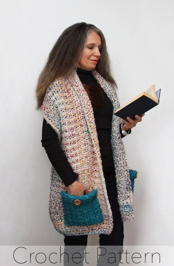 Readers Wrap Crochet Pattern Pocket Shawl Pdf Made In Canada