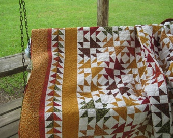 Shimmering Star Quilt, Full or Double Bed