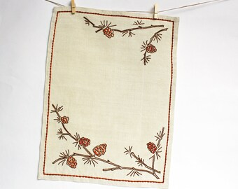 Vintage French Hand Embroidered Table Linen