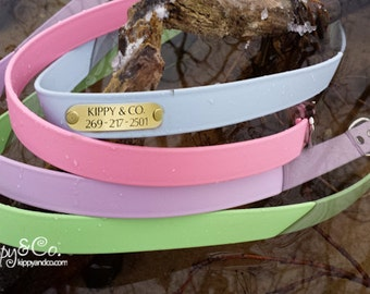 Waterproof Dog Collar with Personalized Name Plate, Dog Collar Personalized, Personalized Waterproof Dog Collar, Custom Dog Collar