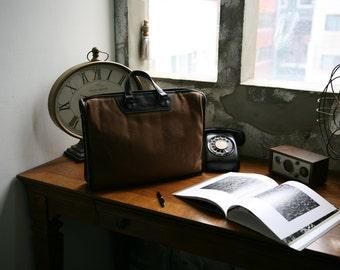 Waxed canvas bag, waxed canvas briefcase, waxed bag, waxed canvas portfolio, waxed canvas messenger bag, cross body bag, portfolio bag