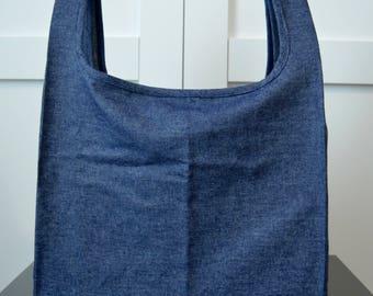 Denim Reusable Grocery Bag
