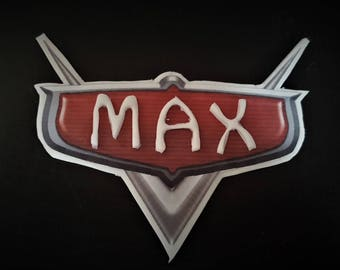 CARS themed Name plate cake decoration, lightning mcqueen
