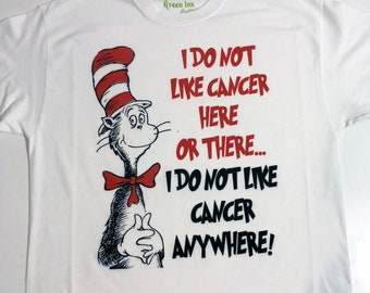 I Do Not Like Cancer Here Or There Adult Shirt