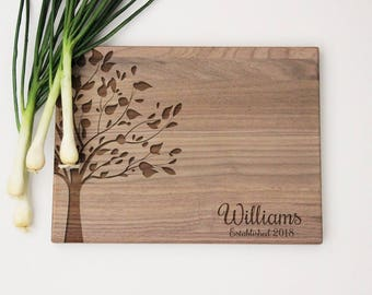 Personalized Names Cutting Board, Family Tree, Personalized Family Engraved Cutting Board, Cutting Board Gift Idea, Engraved Cutting Board