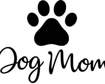 Dog Mom with Paw