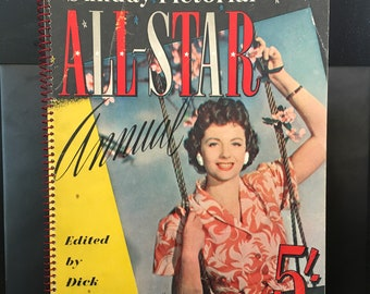 1950 Sunday Pictorial All Star Annual - Softback - Vintage Book on Movies, Cinema, Film Stars - Hollywood and British Interest