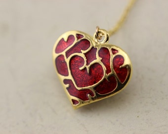 Zelda heart container vintage pendant necklace Christmas gifts C5N_G