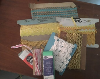 Vintage Ribbons and Lace lot