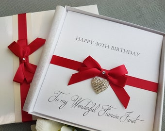 Birthday Card Handmade Personalised Boxed Keepsake  Daughter Mother Wife Fiancee Girlfriend 18th 21st 30th 40th 50th 60th 70th 80th 90th