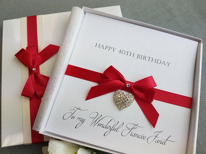 Birthday Card Handmade Personalised Boxed Keepsake Daughter