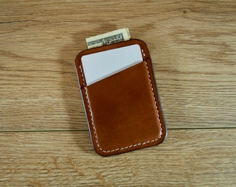 Leather Card Sleeve, Leather Card Holder, Leather Minimalist Wallet, Credit Card Wallet, Slim Leather Wallet, Front Pocket Wallet