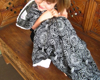 """Black and White Rocker Baby Blanket, """"Campbell"""""""