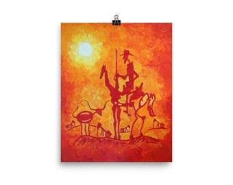 Art Print - The Lone Quixote