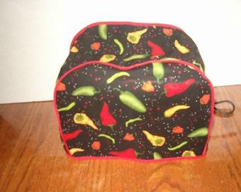 Chili 2 slice Toaster Cover - Appliance Cover - 2 slice Toaster - Black - Chili