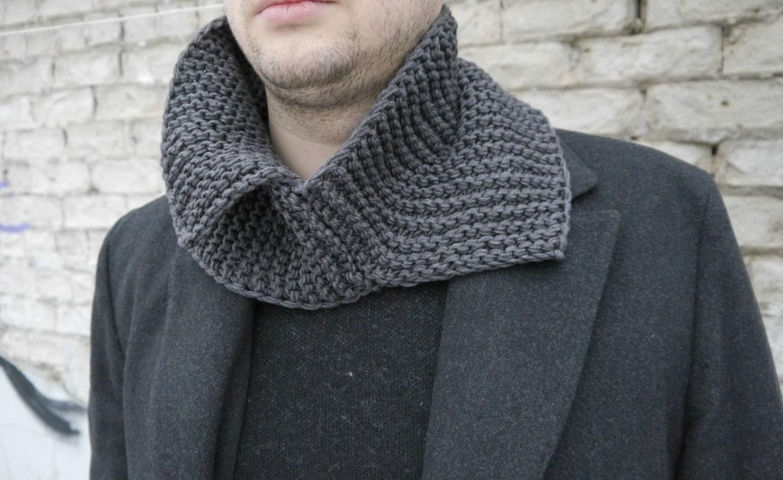 Knitting Pattern / Knitting Cowl Pattern / Knitting Men Scarf ...