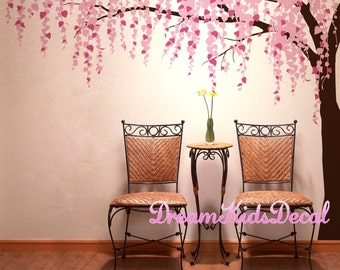 Wall Decals Cherry Blossom branch wall decals nursery wall decals children girl baby wall decals wall sticker wall decor flying birds