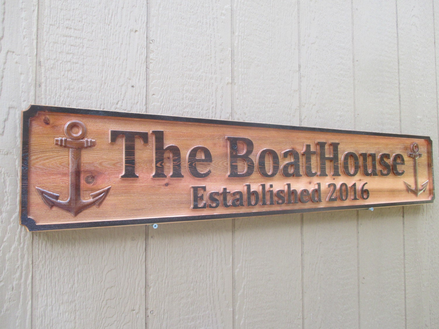 Custom Outdoor Signs Personalized Boat House Sign Established