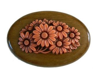 Vintage 1930s Celluloid Flower Brooch