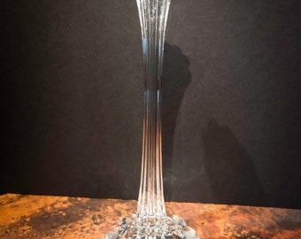 Vintage Tall Lead Crystal Candlestick