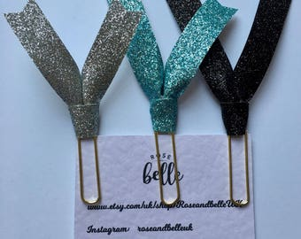 3 Glitter Paperclips