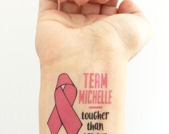 Custom Cancer Awareness Temporary Tattoos