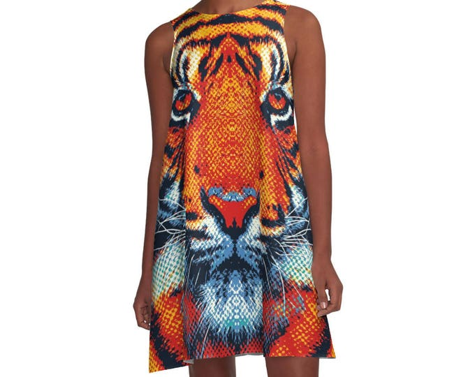 Tiger Woman Dress - Colorful Animals