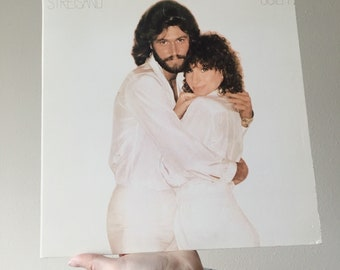 Vintage Vinyl Barbra Streisand with Barry Gibb Guilty Record 1980s Album