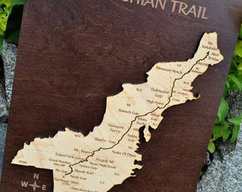 Appalachian Trail Wood Map