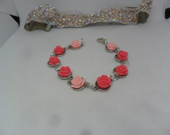 Gorgeous Choker Necklace and Flowered Charms Bracelet for Special Gift